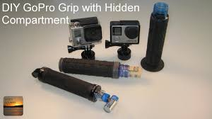 diy gopro handle grip with storage compartment inside step by step how to build you