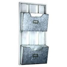 mesh wall organizer metal organizers galvanized 2 pocket file rack holder mounted fi