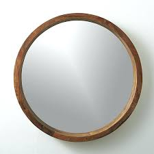 acacia wood 24 mirror cb2 as seen in the front hall of iheart round wood mirror
