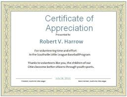 Certificate Of Appreciation Template For Word Beauteous Volunteer Certificate Of Appreciation Template 48 Photos Henfa