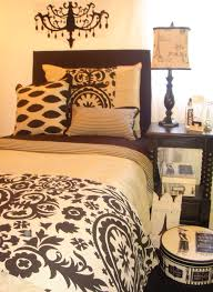 Dorm Bedding Decor Khaki And Black Custom Damask Dorm Room Bedding Decor 2 Ur Door