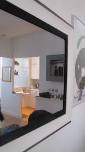 mirror tv. modernisation black \u0026 white with inner canvas tv mirror frame tv