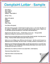 how to write a professional letter letter of plaint