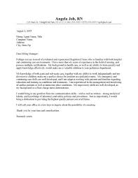 Pediatric Nurse Cover Letter Adorable RN Cover Letter Templates CLR