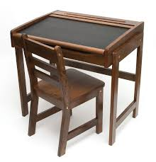 child s chalkboard desk chair 2 piece set walnut finish