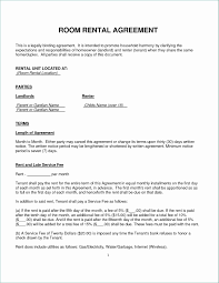 Room Rent Lease Agreement New Free Room Rental Lease Agreement