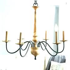 wrought iron candle chandelier lighting pendant lights hanging black metal li