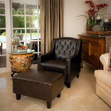club chair and ottoman. Stunning Living Room Design With Sofa And Chair Ottoman Sets In Leather Club