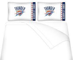 Okc Thunder Bedroom Decor Amazoncom Nba Oklahoma City Thunder Full Bedding Set Basketball