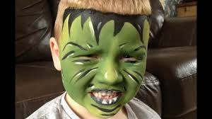 green monster face painting tutorial hulk design easy guide children s face painting tutorial video dailymotion