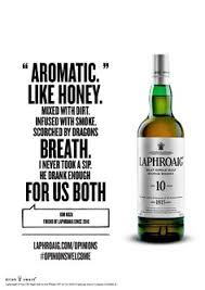 Classic Malts Display Stand Laphroaig Scotch Doesn't Mind If You Think It 'Tastes Like a 97