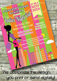 Ladies Night Out Networking Meet Greet 5x7 Invite 8 5x11