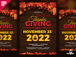 Event Flyers Free Thanksgiving Flyer Free Psd By Free Download Psd On Dribbble