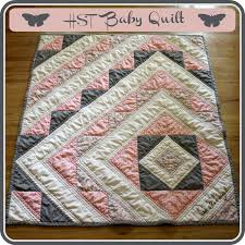Baby Quilt Pattern Mesmerizing Ricochet And Away HST Baby Quilt Tutorial