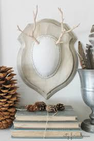 diy faux driftwood deer antler neutral tones texture perfect for fall city