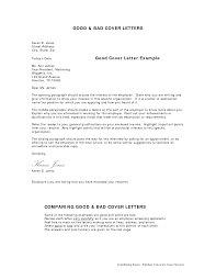 sample good cover letter letter format  sample