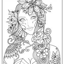 Mermaid Coloring Page For Adults Mermaid Coloring Pages Adults