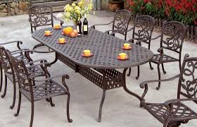 modern outdoor ideas medium size brown metal patio table sets with bottles wine as an additional