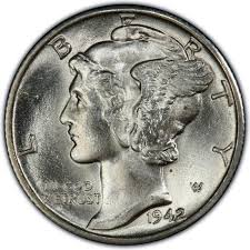 1942 Mercury Dime Values And Prices Past Sales