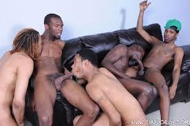 Black gay group orgy