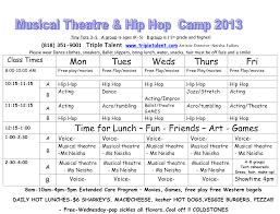 Summer Camp Daily Schedule Template Summer Camp Daily Schedule Template Hunecompany Com