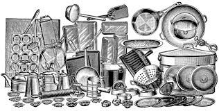 clean kitchen clipart black and white. Perfect White Vintage Kitchen Clipart Black And White Design Inspiration 1011006 Clean