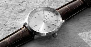 brand classic bauhaus watches men leather brown and black silver categories