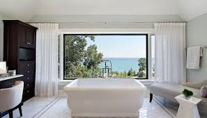 bathroom window. Curtains-can-add-privacy-for-large-windows-bathroom Bathroom Window