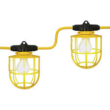 Black Light Commercial Outdoor Yellow Commercial Contractor Grade 10 Socket Plastic Cage String Light Buy String Lights Outdoor Extension Cord Black Light String Lights