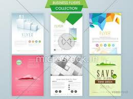 Presentation Flyers Stylish Business And Ecological Flyer Collections Can Be Used As Professional Presentation And Reports