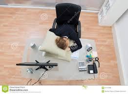 office sleeping pillow. businesswoman desk high office pillow view desktop sleep sleeping a