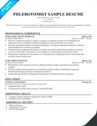 Phlebotomist Resume Interesting Phlebotomist Resume Objective Examples Phlebotomy Sample Awesome No