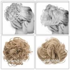 Details About Koko Hair Scrunchie Wrap Caramel Blonde 18 24 Large Messy Bun Updo Wavy Curly