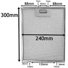 Hood Grease Filter Spares2go Universal Cooker Hood Metal Mesh Grease Filter For