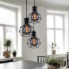cheap chandelier lighting. Nordic Style Loft Retro Iron Cage Pendant Lamp Café Chandelier Ceiling American Industrial Vintage Cheap Lighting