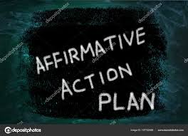Affirmative Action Plan Words Written On Grunge Background — Stock ...