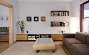Perfect home decor ideas with colorful variation Interior Living Room Designs Homedit Wallmounted Box Shelves Trendy Variation On Open Shelves