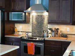 Mosaic Tile Backsplash Design Ideas For Kitchen Decoration With Stove Hoods  Also Stainless Microwave Ideas