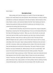 object essay meaningful object essay begum ahmed professor object description essay gxart orgdescriptive christmas essays descriptive essay examples descriptive essay about an object