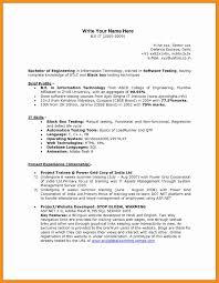 30 Fresh Manual Testing Resume Sample Free Resume Ideas