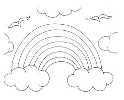 Small Picture Rainbow Coloring Pages Rainbow Coloring Page In Cartoon Coloring