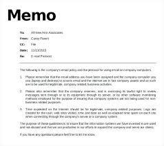 Sample Memo Memorandum Sample Business Word Memo Memo