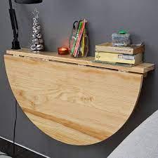 so wood wall mounted drop leaf table