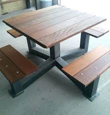 industrial style outdoor furniture. Modern Industrial Furniture Patio Outdoor Style Picnic Table The Within I