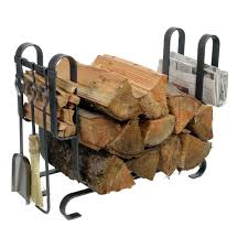 2 6 ft handcrafted large modern firewood rack with tools hammered steel