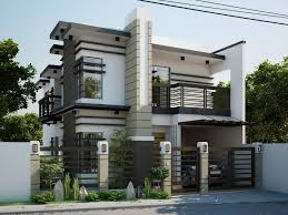 Simple Modern Two Storey House Plans