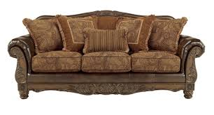 ashley furniture fresco durablend antique sofa to enlarge