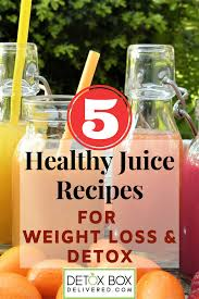 These 7 healthy juicing recipes will help boost your energy, detox your body and aid with weight loss. 5 Healthy Juice Recipes For Weight Loss Detoxification