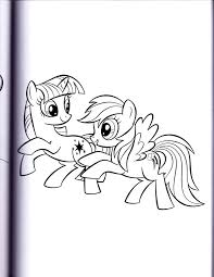 twilight and rainbow mlp coloring book by kwark85