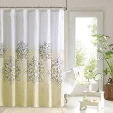 yellow print fabric shower curtain shower curtain ideas
